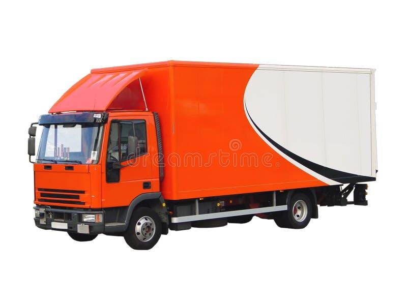 Geïsoleerdem de Vrachtwagen van de levering stock fotografie