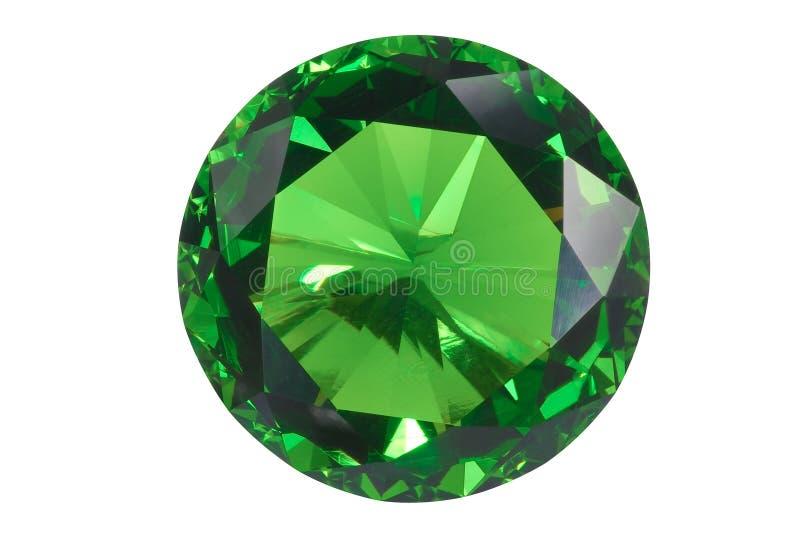 Geïsoleerdem smaragd stock foto