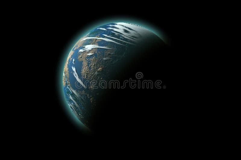 Geïsoleerden aarde stock afbeeldingen