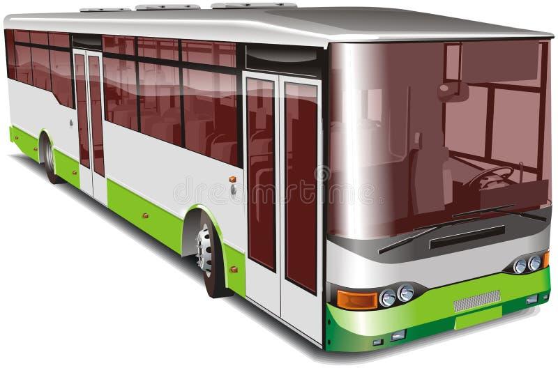 Geïsoleerden de bus van de stad stock illustratie