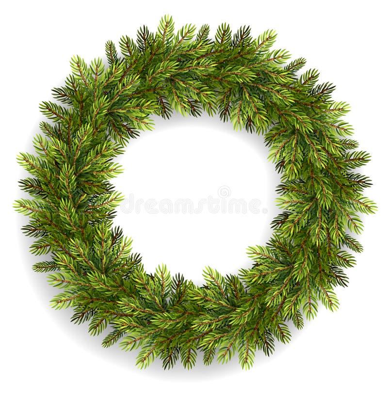 Geïsoleerden de Kroon van Kerstmis vector illustratie