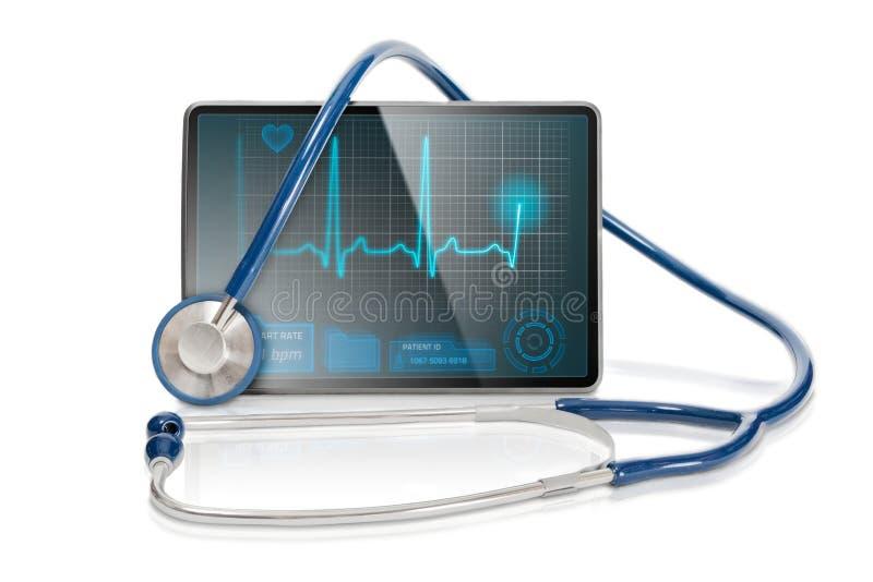 Geïsoleerden medische tablet stock foto's