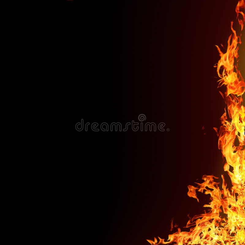 Geïsoleerden vlammenachtergrond stock illustratie