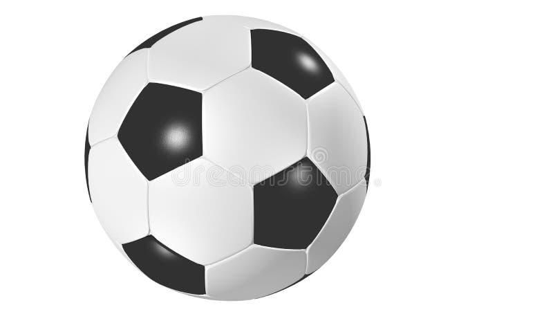 Geïsoleerden voetbal vector illustratie