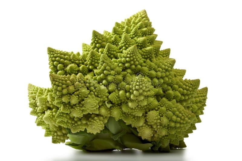Geïsoleerdeo de broccolikool van Romanesco stock foto
