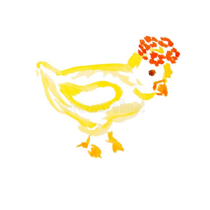 Geïsoleerdeo het kuiken van Pasen vector illustratie