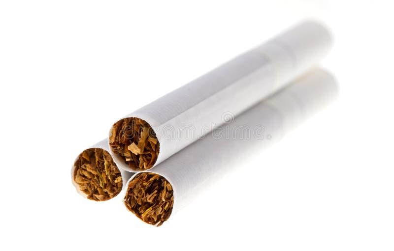 Geïsoleerdeo sigaret stock afbeeldingen