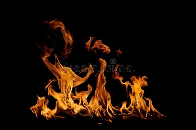 Geïsoleerdeo vlammen stock afbeeldingen