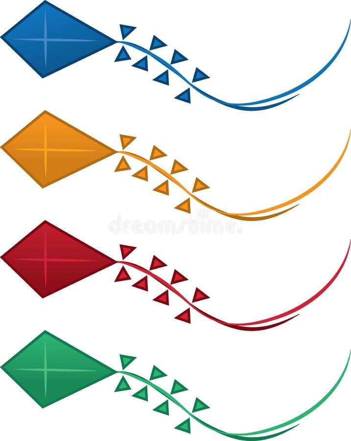 De Kleuren van de vlieger stock illustratie