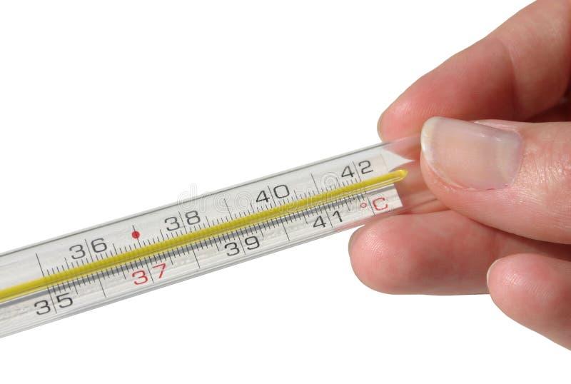 Geïsoleerdep thermometer - stock foto