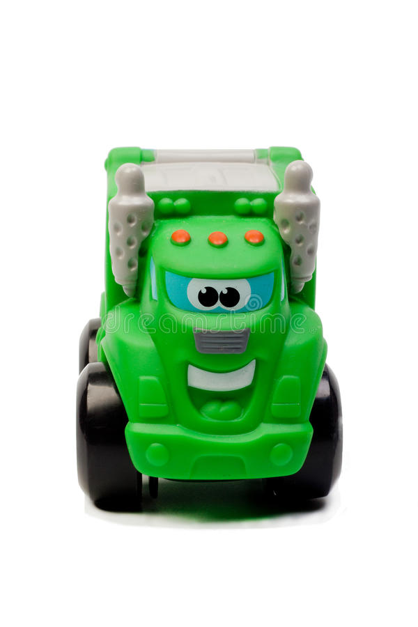 Geïsoleerder de Auto van het stuk speelgoed stock foto