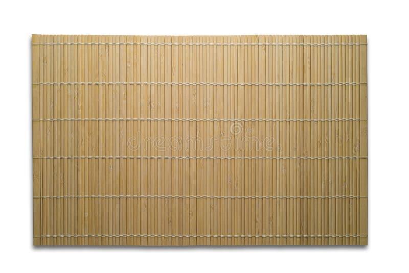 Geïsoleerder de mat van het bamboe stock afbeeldingen