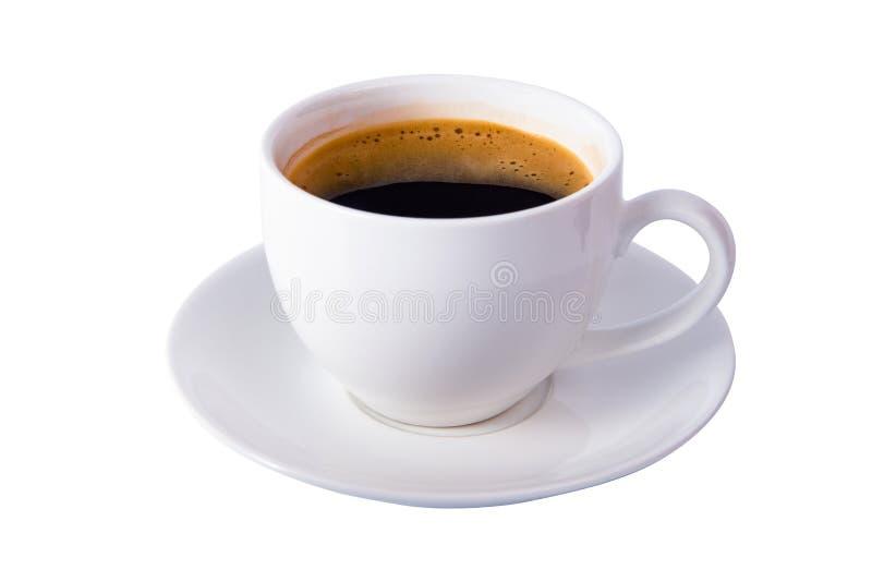 Geïsoleerder koffiekop stock foto's