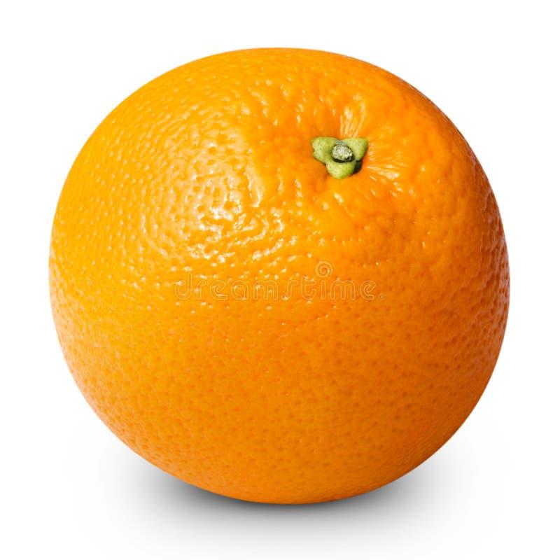 Geïsoleerder sinaasappel royalty-vrije stock foto's