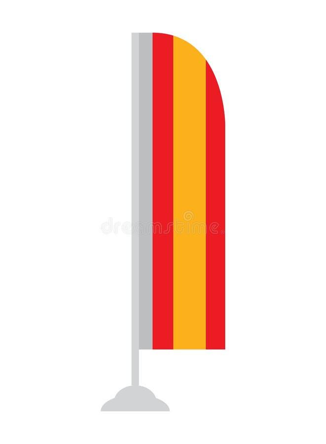 Geïsoleerder Spaanse Vlag stock illustratie