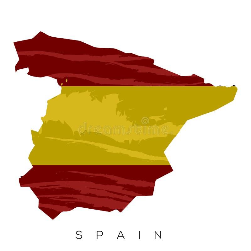 Geïsoleerder Spaanse Vlag royalty-vrije illustratie