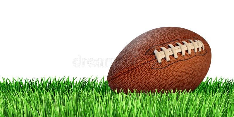 Geïsoleerder voetbal en Gras stock foto's