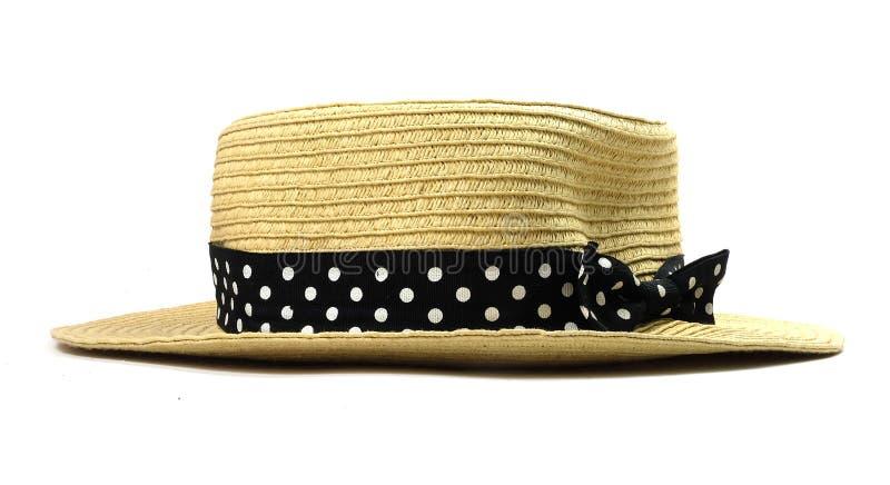 Geïsoleerdes de hoed van de manier stock fotografie