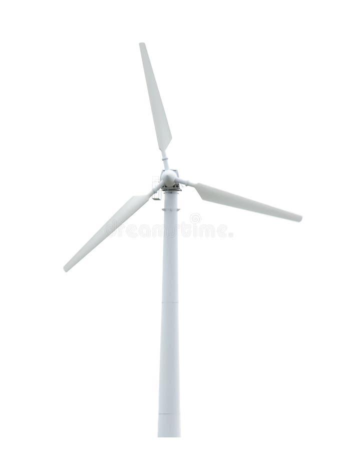 Geïsoleerdes de turbine van de wind. Alternatieve energiebron. stock afbeelding