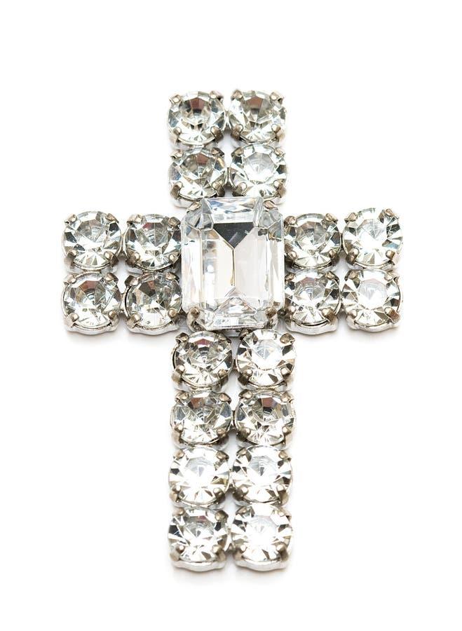 Geïsoleerdes het kruis van de diamant stock afbeelding