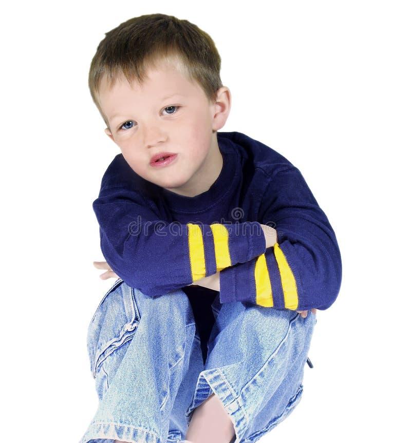 Geïsoleerdes jongen stock afbeelding