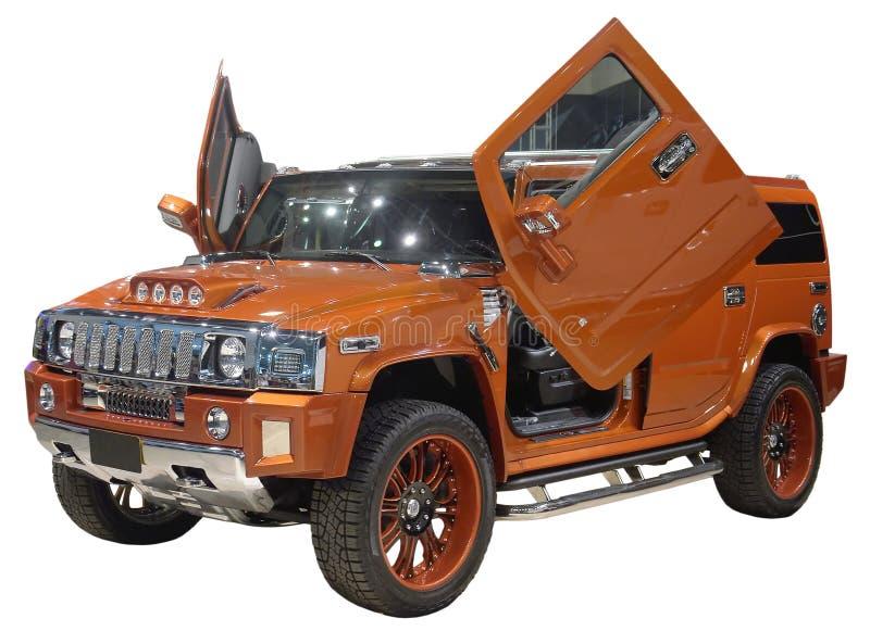 GeïsoleerdeS SUV Stock Afbeelding