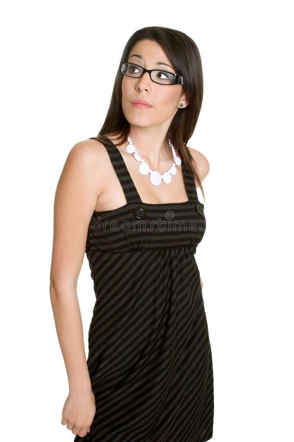 Geïsoleerdes Vrouw stock fotografie