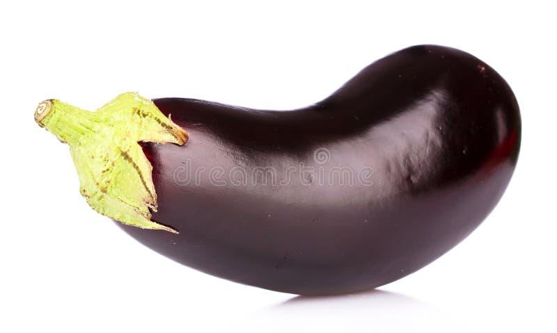GeïsoleerdeT aubergine stock afbeeldingen