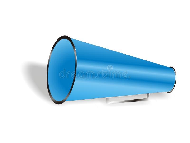Geïsoleerdet Blauwe megafoon royalty-vrije illustratie