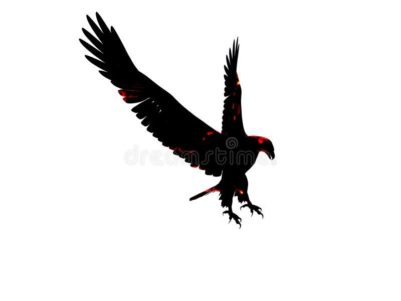 Download GeïsoleerdeT De Adelaar Van De Brand Stock Illustratie - Illustratie bestaande uit amerikaans, roofvogel: 283193