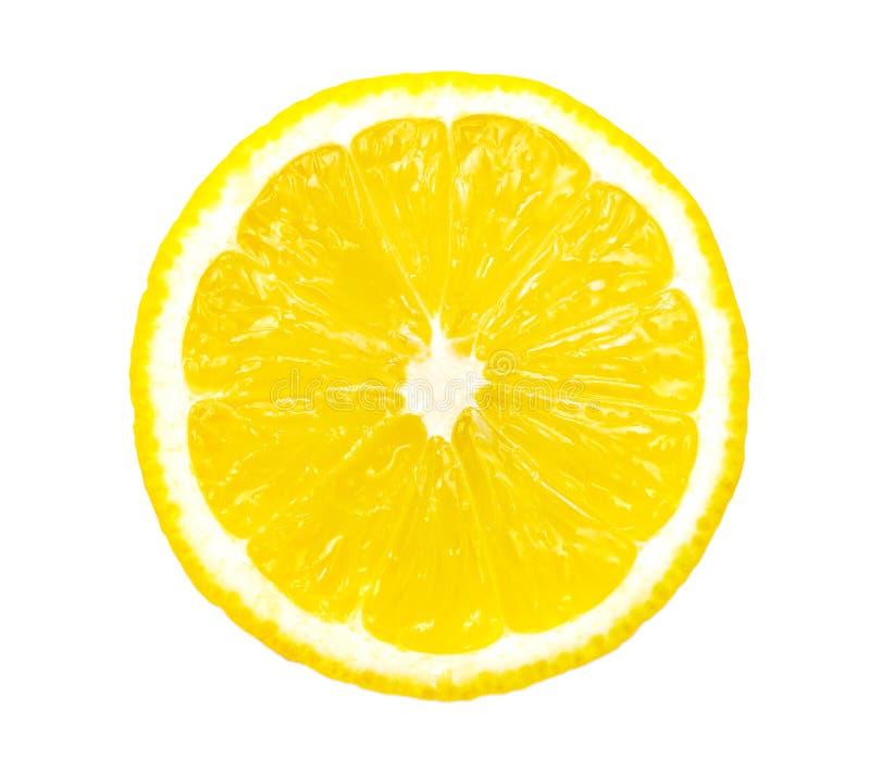 Geïsoleerdet de plak van de citroen royalty-vrije stock afbeeldingen