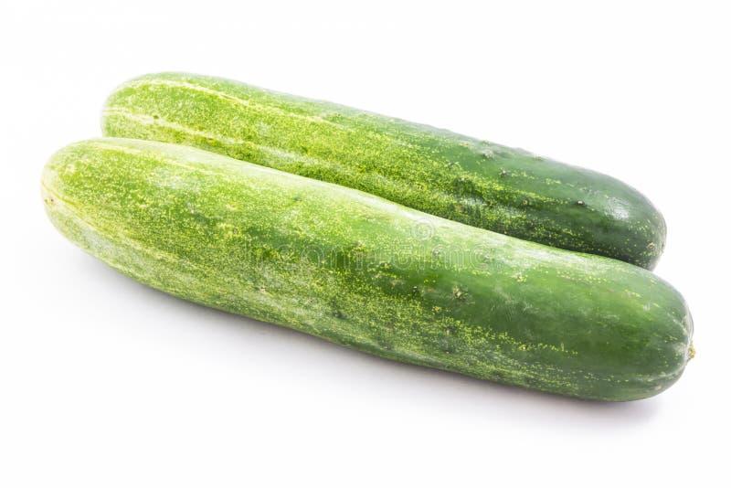 Geïsoleerdet komkommer stock afbeeldingen