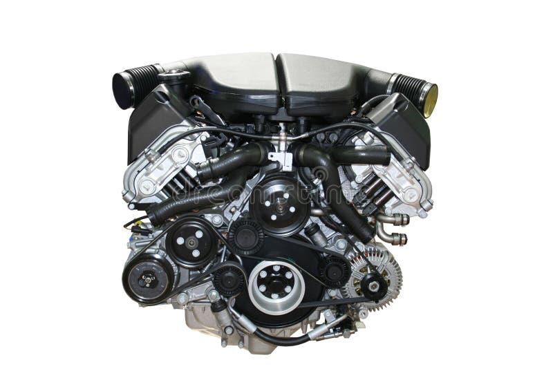 Geïsoleerdet motor van een auto stock afbeeldingen