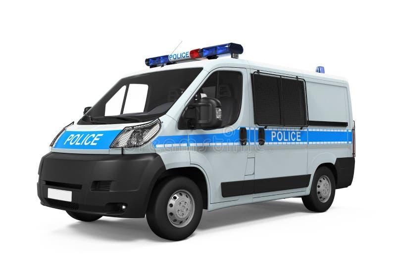 Geïsoleerdet politiewagen stock foto