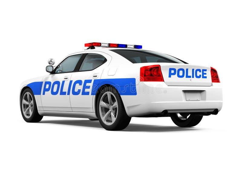 Geïsoleerdet politiewagen stock afbeelding