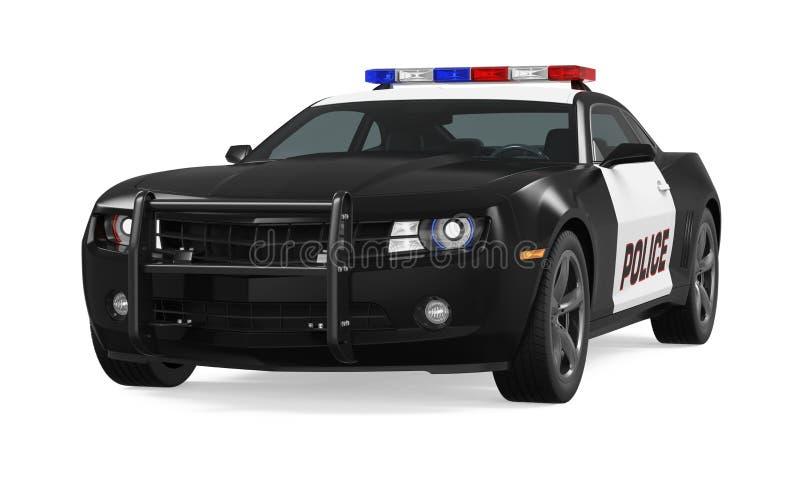 Geïsoleerdet politiewagen royalty-vrije illustratie