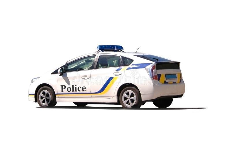 Geïsoleerdet politiewagen stock fotografie