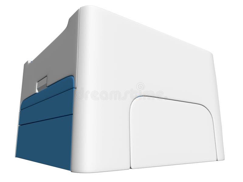 Geïsoleerdet printer 02 vector illustratie