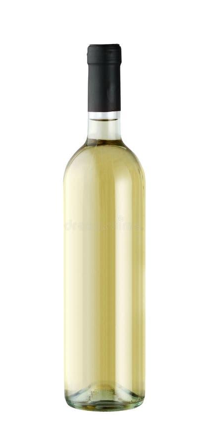 Geïsoleerdeu de fles van de wijn royalty-vrije stock foto