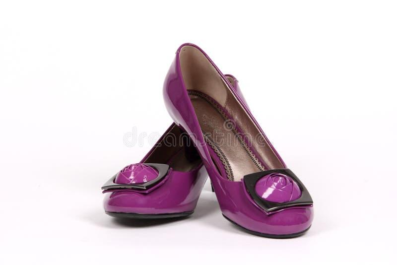 Geïsoleerdeu de schoenen van de vrouw royalty-vrije stock afbeelding