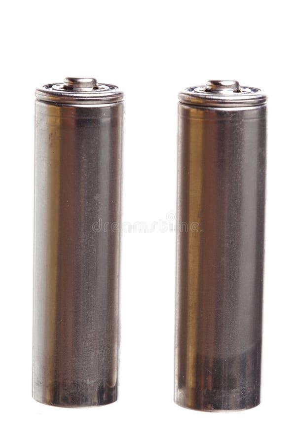 Geïsoleerdew batterij royalty-vrije stock fotografie