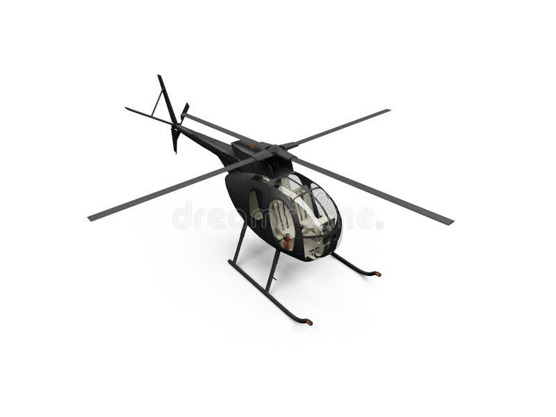 Geïsoleerdew helikoptermening royalty-vrije illustratie