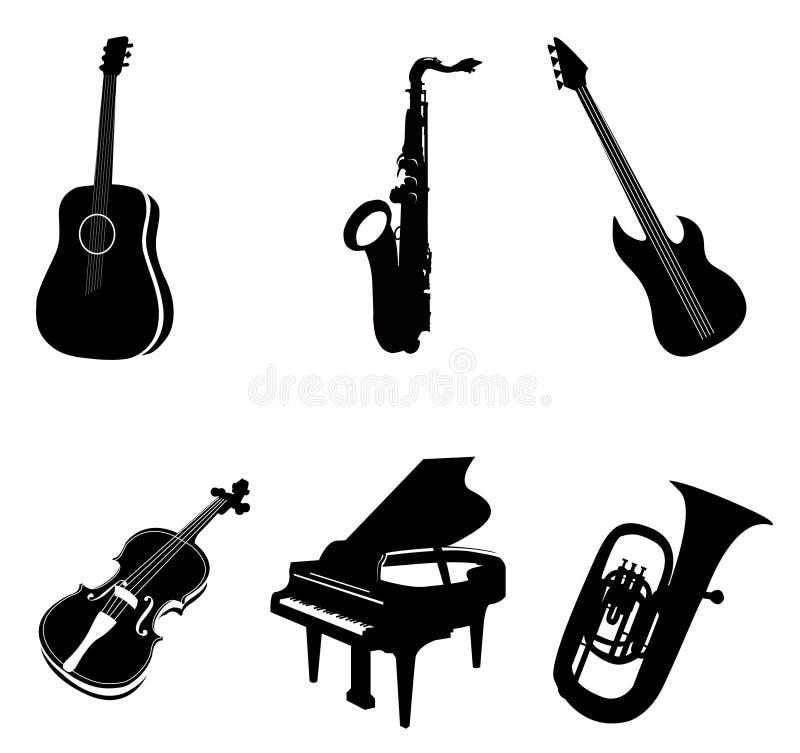 Geïsoleerdew Instrumenten stock illustratie