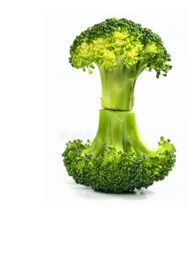 Geïsoleerdew verse broccoli royalty-vrije stock fotografie