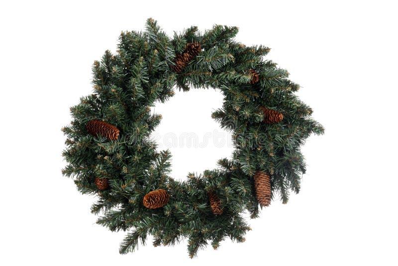 Geïsoleerdez Kerstmiskroon stock foto's