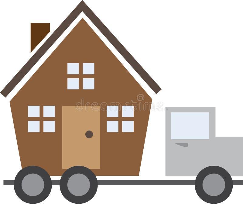 Huis op Vrachtwagen vector illustratie