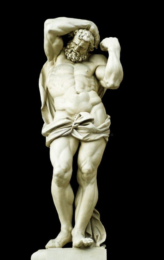Geïsoleerdn beeldhouwwerk. royalty-vrije stock afbeeldingen