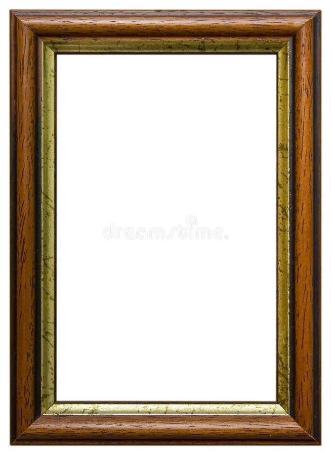 Geïsoleerdo houten frame royalty-vrije stock foto's