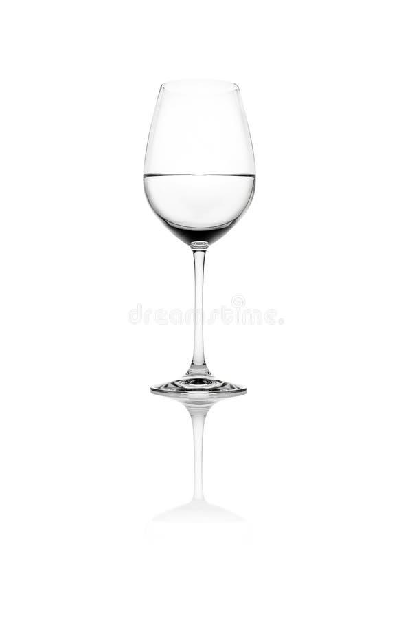 Geïsoleerdr Glas stock foto