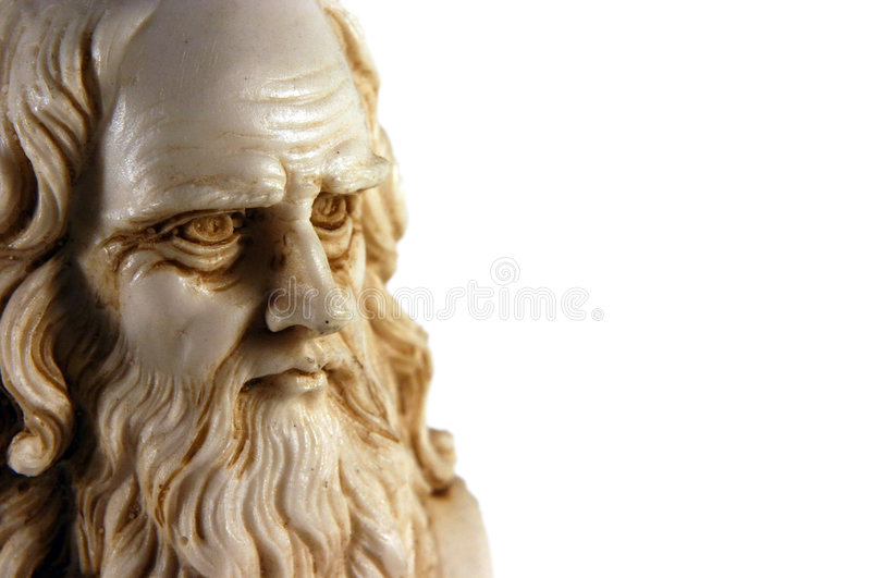 Geïsoleerdr Leonardo da Vinci - stock foto's